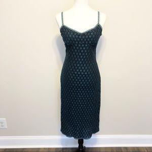 Vintage Betsey Johnson Embroidered Slip Dress